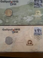 ANDA PNC ANZAC Centenary Coin Issued 16th April 2015 pair