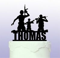 Personalised Army Cake Topper - Soldier Forces