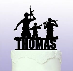 Personalised Army Acrylic Cake Topper - Soldier Forces