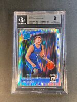LUKA DONCIC 2018 DONRUSS OPTIC #177 SHOCK REFRACTOR ROOKIE BGS 9 W/3 9.5 SUBS C