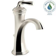 KOHLER Devonshire Single Hole 1-Handle Water-Saving Bathroom Faucet in Nickel
