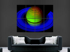 SATURN RINGS SPACE  ART WALL LARGE IMAGE GIANT POSTER