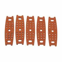5/10/20pcs Outdoor Slingshot Catapult Cow Leather Pouches w Center Hole Brown