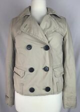 Gap Women's Beige Buttoned Short Fall Autumn Jacket Coat Size XS