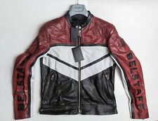 NWT Belstaff Morleigh Moto Racing Black Men LEATHER Jacket 42/52 $2495 XXL ITALY