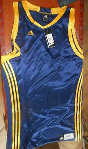 CANOTTA BASKET  maglietta  ADIDAS COLOR BLU/GIALLA uomo ragazzo  sport tg.3XT *