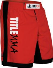 Title Mma red quad flex vertical fight shorts Youth Large Yl New! (G2)