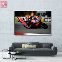 Canvas print wall art big poster Jorge Lorenzo Motorcycle Superbike Ducati GP dg