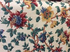 "4.10m JOHN WILMAN ""Placido"" Floral Cotton Sateen Print Curtain Fabric FREE POST"