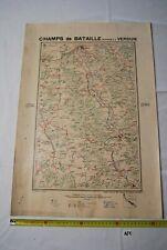 AF1 Carte - Champs de Bataille - Ed Perin - VERDUN- Planche N°4 WW1 WW2