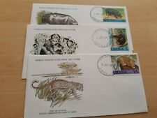 1976 LIBERIA WORLD WILDLIFE FUND FIRST DAY COVERS(3)