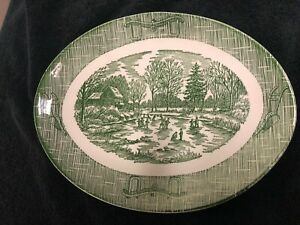 Vintage Currier & Ives Oval Platter by Royal China