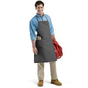 Augusta Sportswear Men's Wide Waist Ties Neck One Patch Pocket Long Apron. 2070