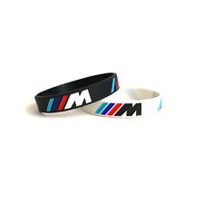 BMW Sport M Power Black White Silicone Logo Bracelets Wristband Car accessories