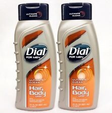 2  Dial For Men ULTIMATE CLEAN Hair & Body Wash With Clean Rinse Technology