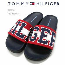 Tommy Hilfiger Destyn Women's Sandal Size 5 Red/Off White/Blue Slides