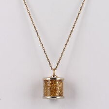 COSTUME FOOLS GOLD PENDANT GOLD FILLED CHAIN NECKLACE FASHION 5982