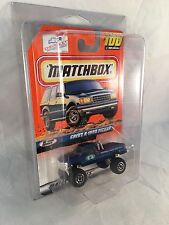 MATCHBOX 1999 #100 Chevy K-1500 Pickup - Mint to NM Card in Protective Case