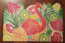 Flamingo Welcome Mat Doormat Rubber Front Entry Door Rug Tropical Coastal NEW
