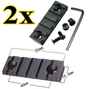 2 Stk 5 Slot Jagd Weaverschiene für Keymod Picatinny Montage Ultraleicht NEU