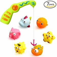 New Children Kids Toddlers Bath Water Toys with A Magnetic Fishing Rod For Kids