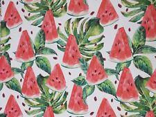 Stoffe Baumwolle Panamabindung Digitaldruck Deko Patchwork Gardine Melone Nr15