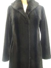!EXCELLENT BLACK CANADIAN SHEARED MINK FUR COAT JACKET WOMEN WOMAN SZ 2-4 PETITE