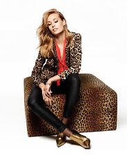 NWT Juicy Couture Crepe Leopard Print Single button Blazer Boyfriend Jacket Sz S