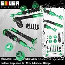 FIT 03-08 350Z Enthusiast Coupe 2D Coilover Suspension NON Adj.Damper GREEN