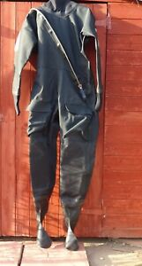 Typhoon Imersion/Medium Surface dry suit black - Front zip New never been used.