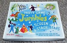 Screen & Stage Stars - Vintage 1930's Jumbles Party Game - Dennis Publications
