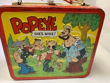 Popeye 1980 Aladdin Metal Lunch Box King Features Syndicate Inc , No Thermos VG+