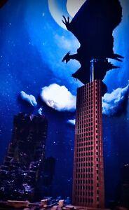 SH MONSTER ARTS SCALE GODZILLA 3 Buildings Battle Damaged 1/450 Scale
