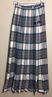 Vintage The Scotch House Tartan Plaid Kilt Wrap Skirt 100% Wool Scotland XS