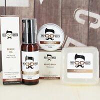 Beard Care Essential Kit | Beard Oil 50ml, Balm 25ml & Soap 80g | 8 Scents