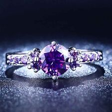 1PC Women Purple (Zircon) Stone Ring For Lady size 6/7/8/9 Ring Jewelry Fashion