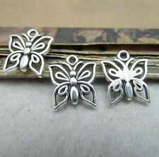 20pc Retro Tibetan Silver Dangle Charm Butterfly Pendant Beads Accessories B46P