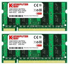 Komputerbay 8GB (2x 4GB) DDR2 667MHz PC2-5300 PC2-5400 SODIMM CL5 200-Pin