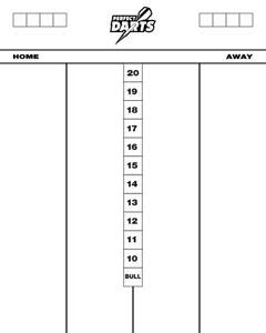 Perfectdarts Whiteboard Scoreboard 501 & Cricket  - Dry Wipe Acrylic - 50 x 40cm