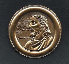 Religious Jesus Christ bronze plaque medal medallion M35
