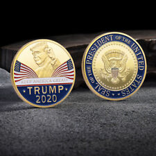Wahl-Herausforderungs-Münze Donald Trump 2020 Gold Plated Keep America Great Vo
