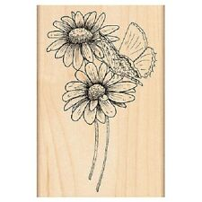PENNY BLACK RUBBER STAMPS BUTTERLY KISS FLOWER STAMP