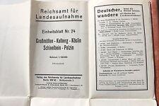 6975 Landkarte Reichskarte 24 Großmöllen Kolberg Köslin Schivelbein Polzin 1923