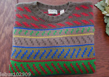 ESPRIT SPORT SWEATER Crewneck Brown Yellow Green Red Blue Pull-Over Size L