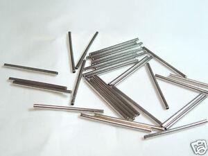 30 x Silvertone Metal Tube Spacers : BNSTT01