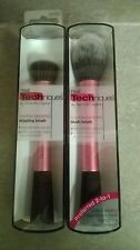 NIB Real Techniques Makeup Brushes Stippling Brush RT-1408 & Blush Brush RT-1407