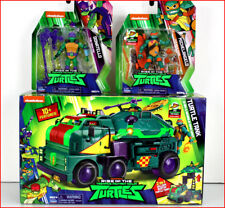LOT 3 - RISE of Teenage NINJA TURTLES TANK Mobile Ops + 3 Turtle Action Figures