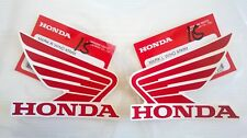 Honda Wing Fuel Tank Decal Wings Sticker 2 x 85mm RED & WHITE 100% GENUINE