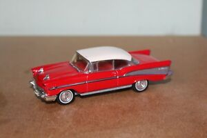MATCHBOX DINKY 1:43 DY-2 1957 CHEVROLET BEL AIR SPORT COUPE RED/WHITE