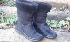 Women's WINNA Boots Black Goat Hair Size 6.5 Shoes Winter Snow Mid Calf